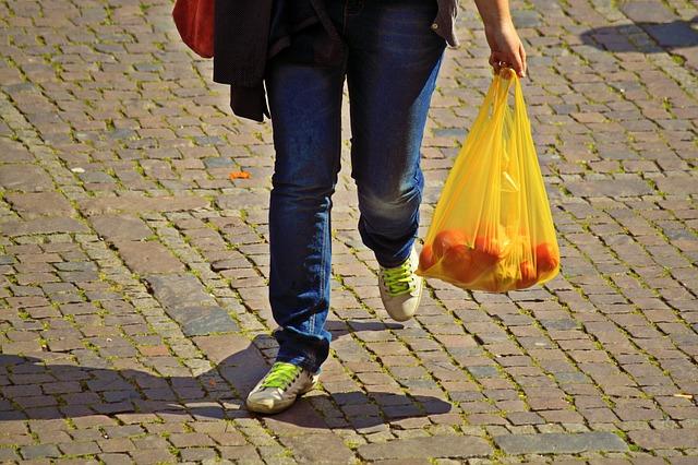 Torby foliowe - żółta torba