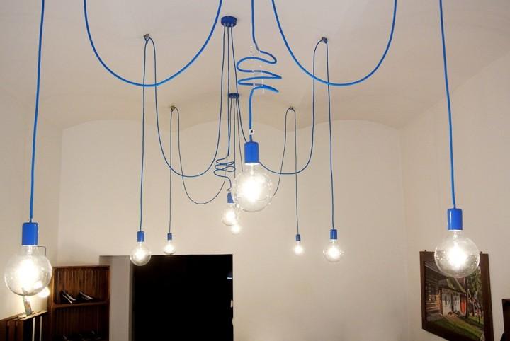 niebieskie lampy wiszące - Imindesign