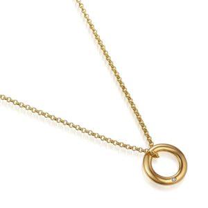 Brylantowe naszyjniki często są wykonywane ze złota
