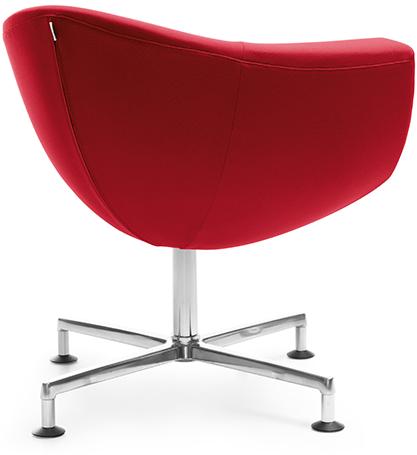 Czerwone krzesło obrotowe. Impet Meble Kielce