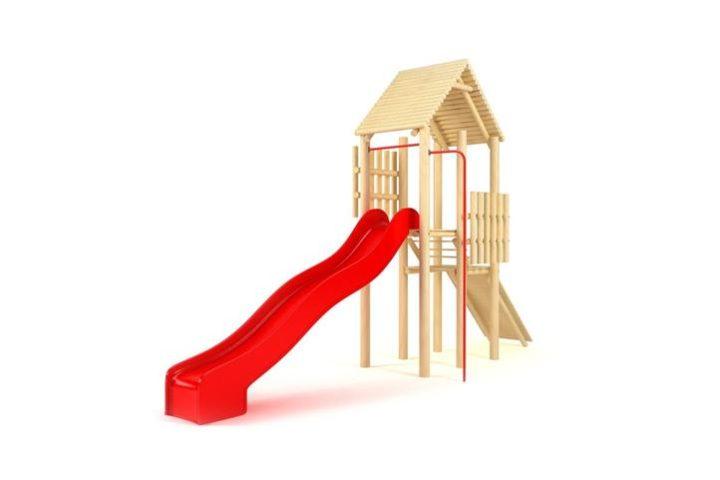Zjeżdżalnia dla dzieci z domkiem