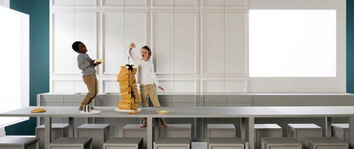 Sztukateria ścienna idealnie sprawdzi się w kuchni i jadalni!
