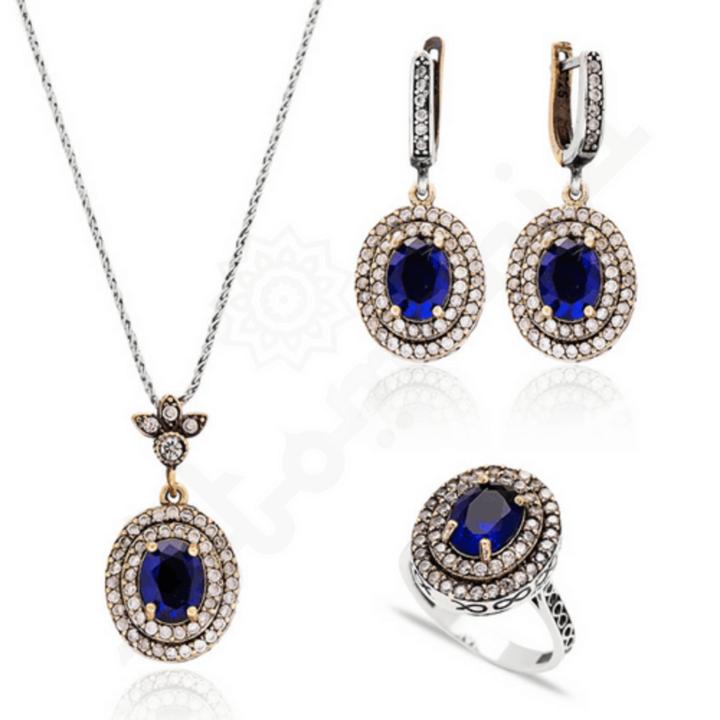 Biżuteria arabska - niebieska