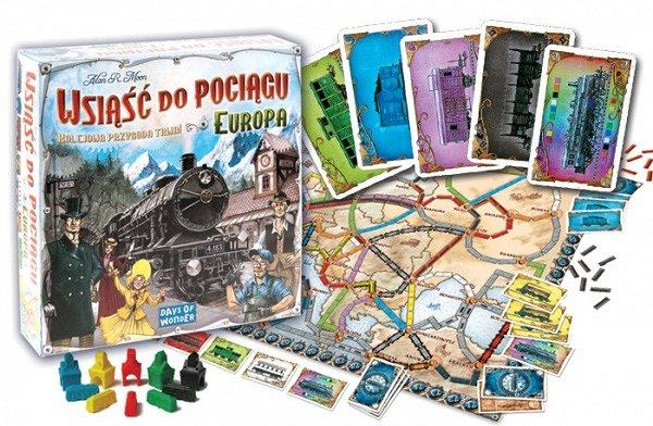 wsiąść do pociągu Europa - gra rodzinna i nie tylko