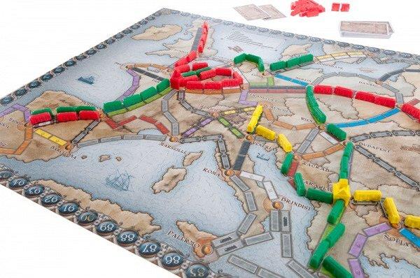 wsiąść do pociągu Europa - plansza