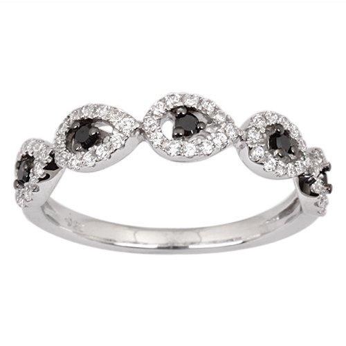 pierścionek z czarnym brylantem srebro