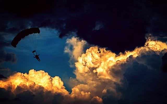 bezpieczeństwo podczas skoku spadochronowego
