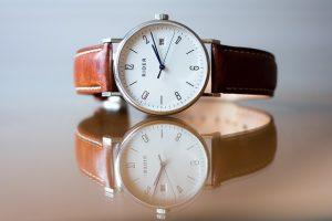 brązowy pasek do zegarka gładki 16mm