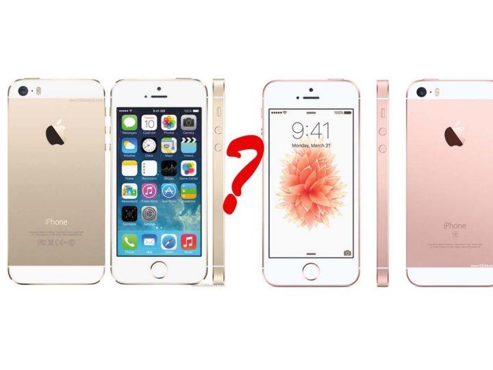 iphone 5s vs se - porównanie
