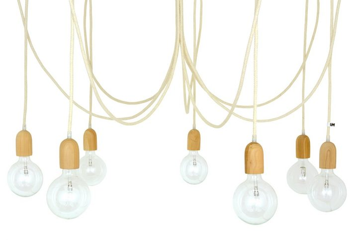 designerskie żyrandole z kablami