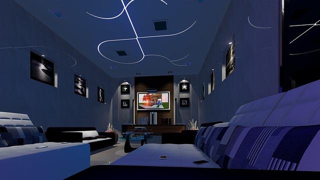 telewizory 85 cali w klimatycznym salonie