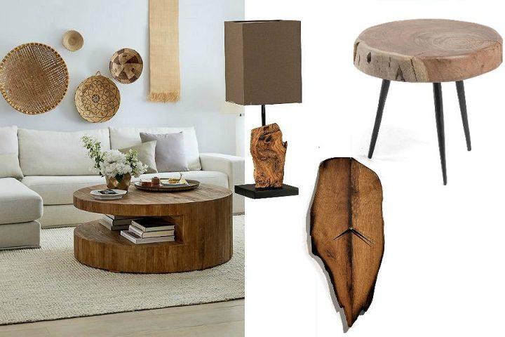 modna podsufitka do lampy drewniana