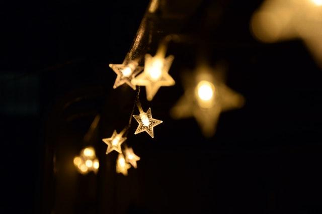 świąteczne gwiazdki na choinkę