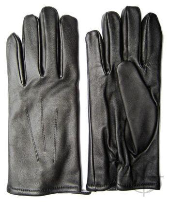 Rękawiczki wojskowe letnie czarne ze skóry cielęcej