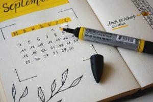 kalendarze szyte