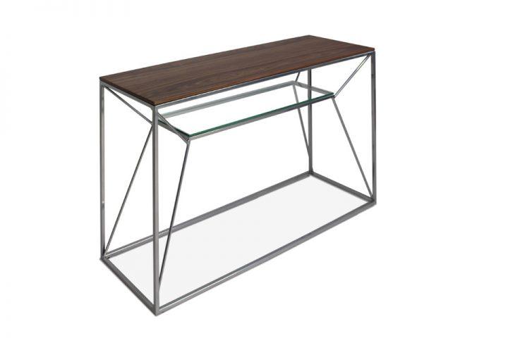 Czy znasz konsolę metalową z drewnianym blatem?