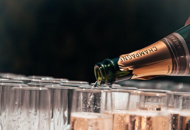 bańki mydlane szampan