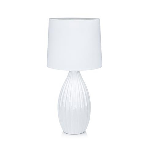 Lampa ceramiczna z abażurem